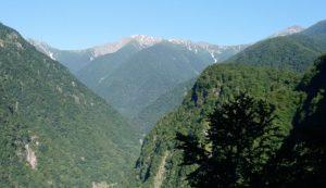 広河原から見える北岳